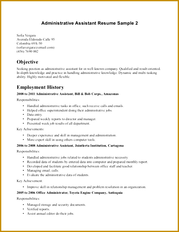 Back fice Jobs Resume Format Chronological Order Resume fi 744574
