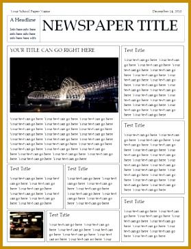 Newspaper Article Template Microsoft Word 279364