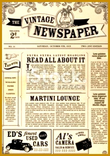Vector illustration of a front page of an old newspaper Use this 309219