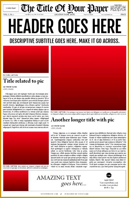 Free Newspaper Template 683445