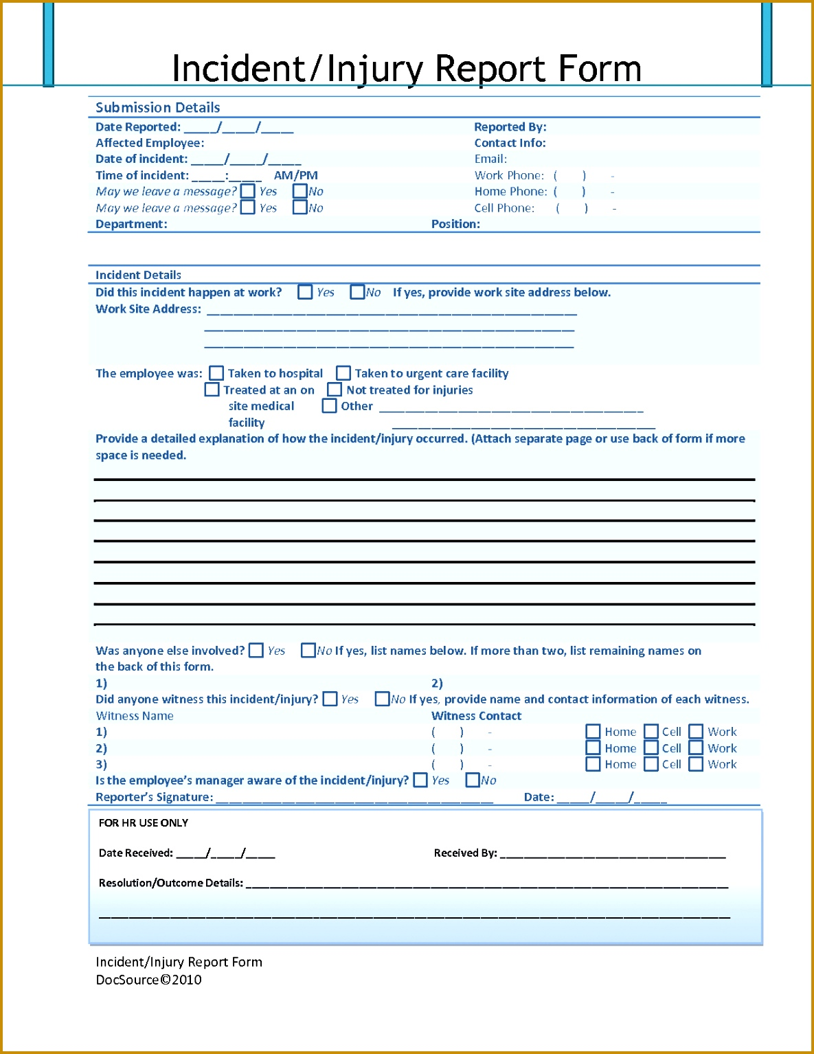 4 Osha Incident Report Form Template FabTemplatez FabTemplatez Osha Incident  Report Form Template 38786 Injury Incident  Injury Incident Report Template