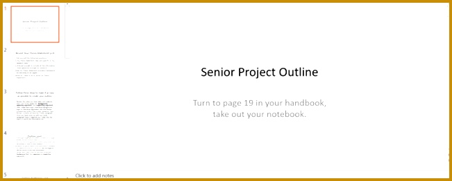 Senior Project Outline Template for PPT 262651