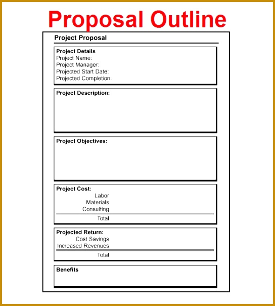 Free Project Proposal Outline Download 604544