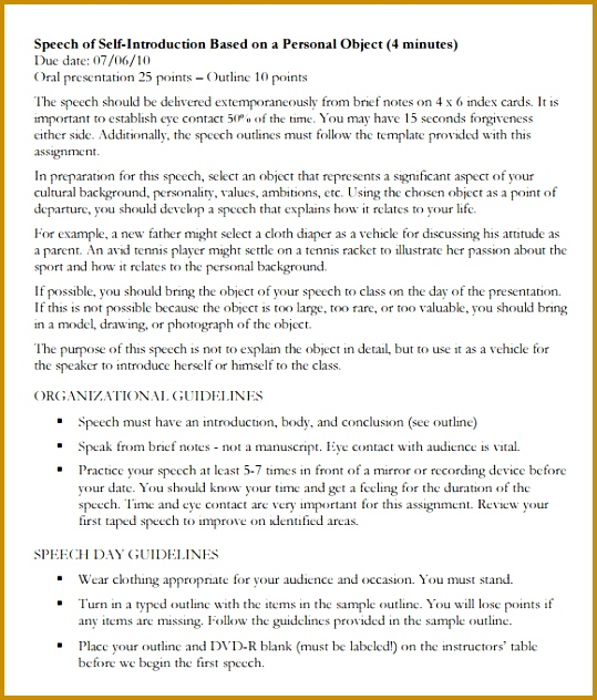 presentation introduction template sample self introduction speech examples 6 documents in pdf 632539