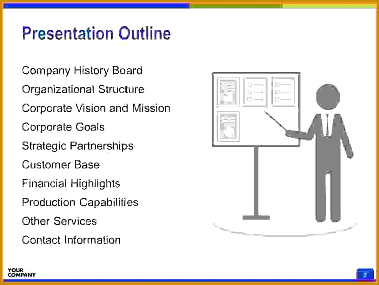 Presentation Outline Template Sales Report Template 755569