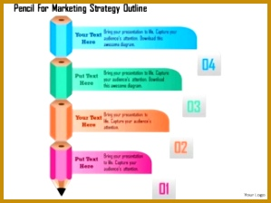 business diagram pencil for marketing strategy outline presentation template 1 224299
