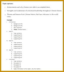 History Paper Outline Template 245219
