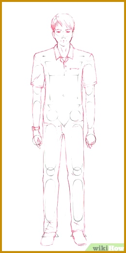 Image titled 15 Draw a smooth outline add body details and add clothing Step 260520