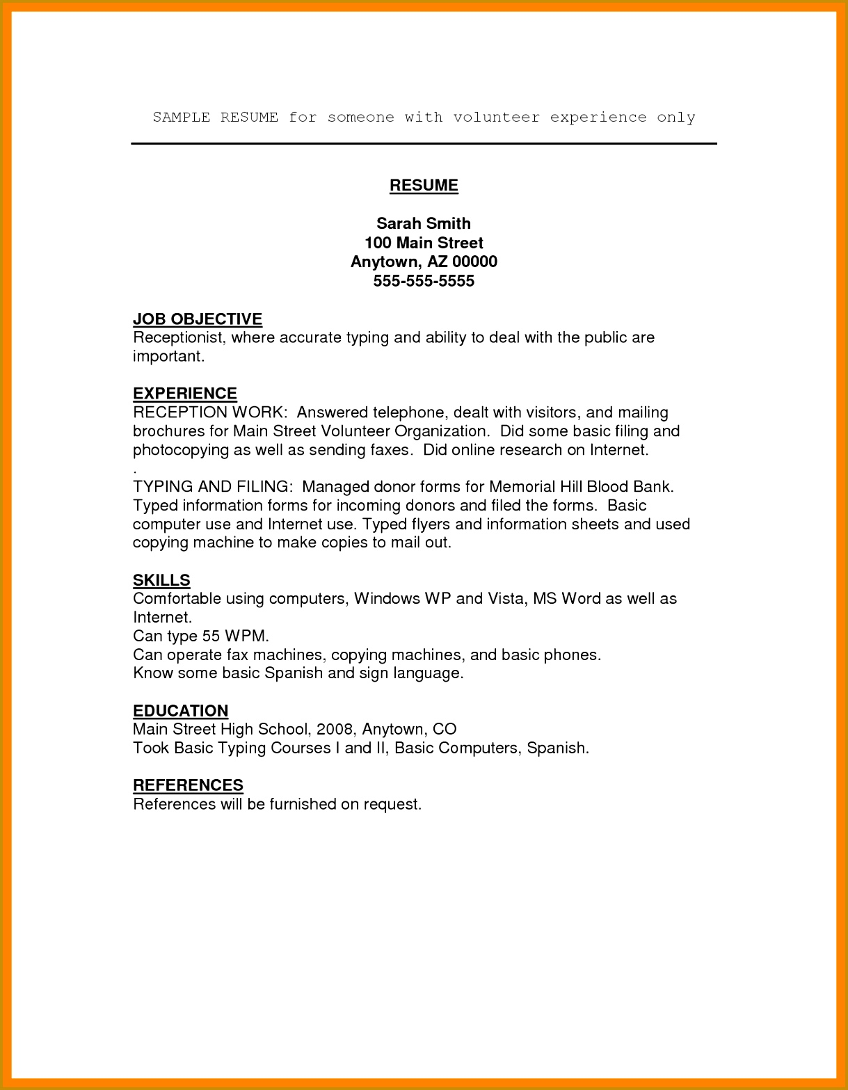 Rental Agreements Volunteer Experience Resume 6b0fa488dfbc c e Volunteer Sign Up Template Affidavit Best 25 Parent Volunteer Form 15671219