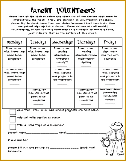 EXCELLENT post on coordinating and organizing for parent volunteers Will be using this 537421