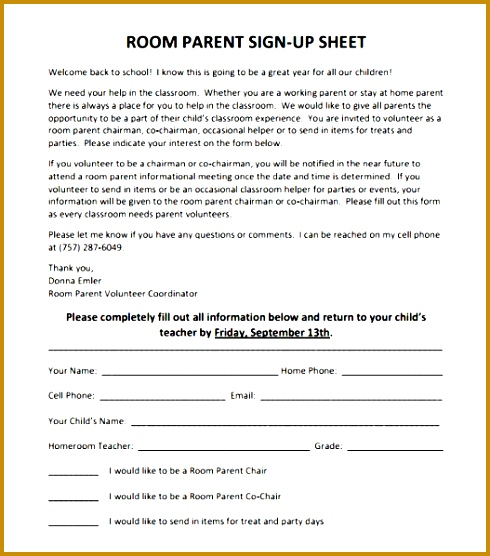 Parent Volunteer Sign Up Sheet Template Fuuno Elegant Sample Sign Up Sheet 8 Example format 556490