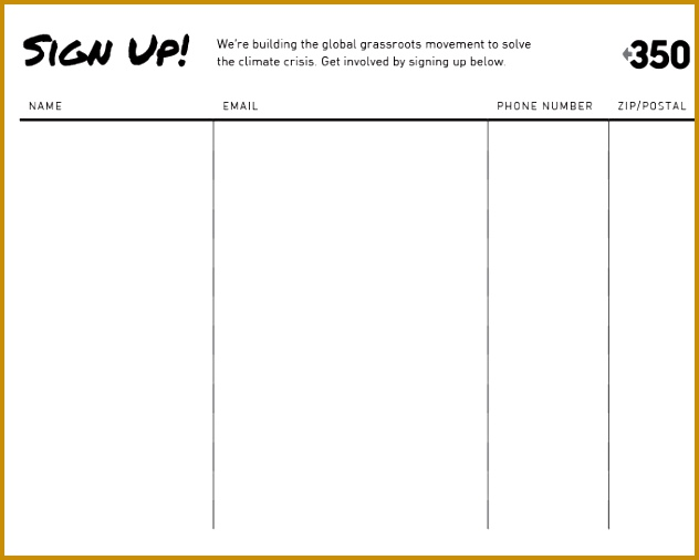 Sign Up Sheet Template Free 632506