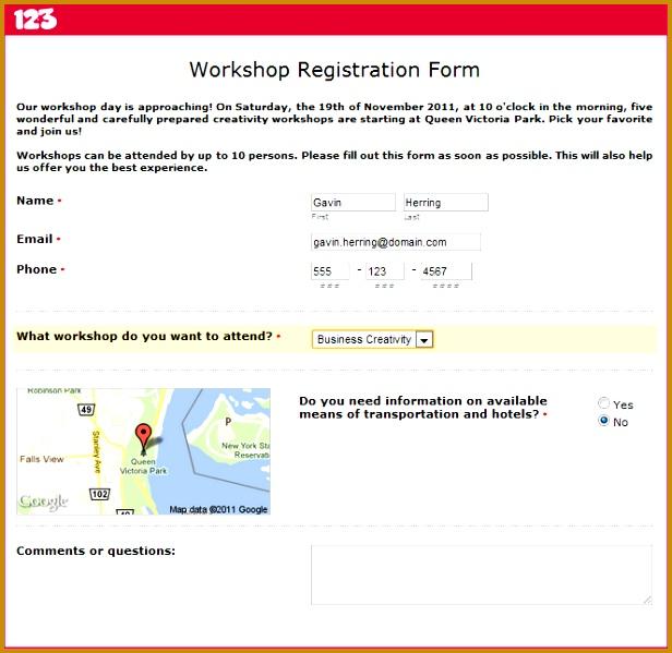 How to Build a Workshop Registration Form 599616