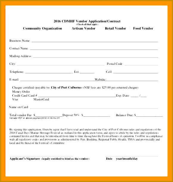 6 Sample Vendor Registration Form 613581