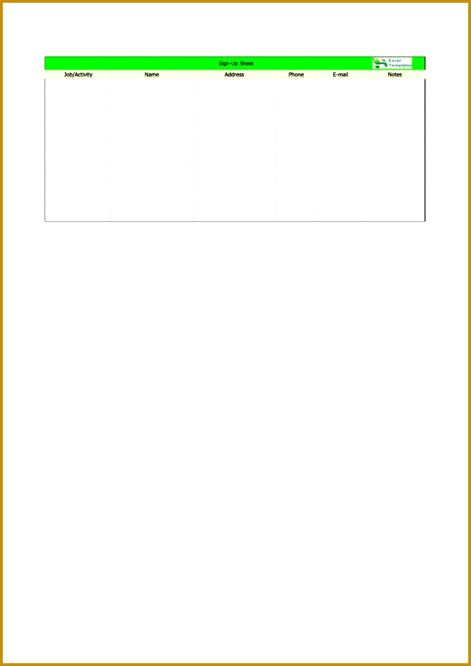 Sample Sign In Sheet Template 9 Free Sample Picnic Party Sign Up 677957