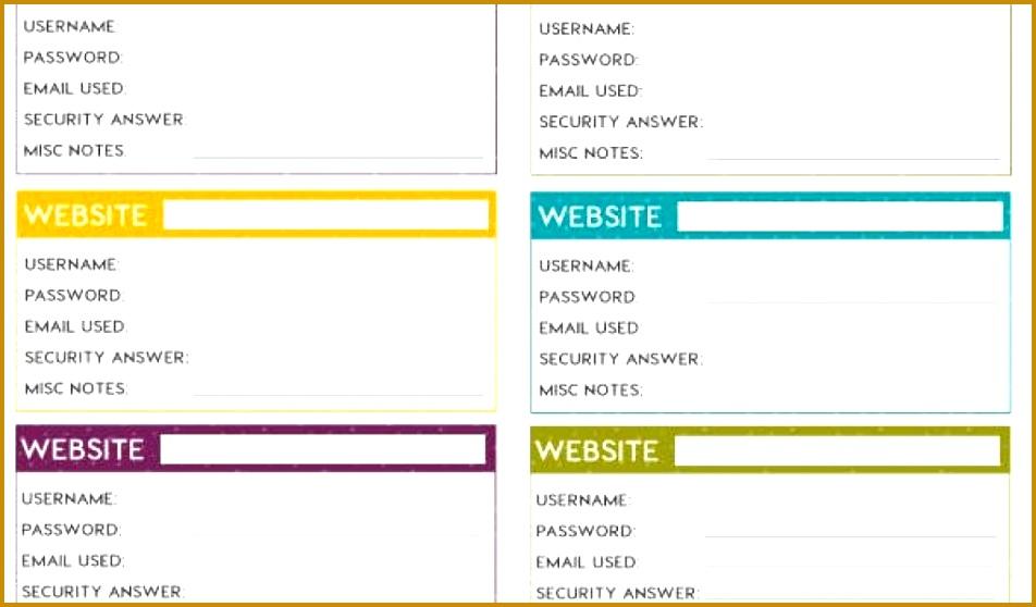 7 Password Manager Spreadsheet Template | FabTemplatez