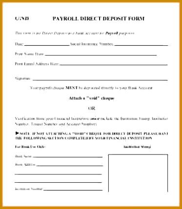 payroll direct deposit form template Payroll Direct Deposit Form Template 429373