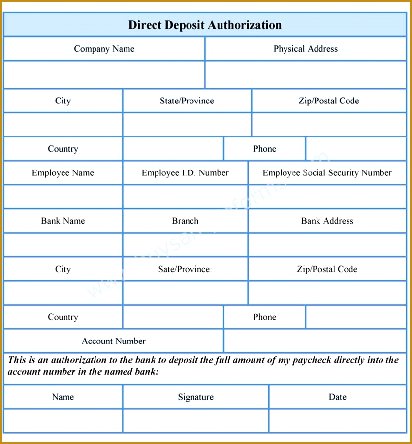 New Payroll Direct Deposit Authorization Form New Payroll Direct Deposit Authorization Form 901837