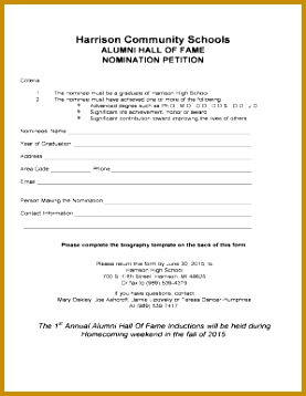 Alumni Hall of Fame Nomination Petition 358277