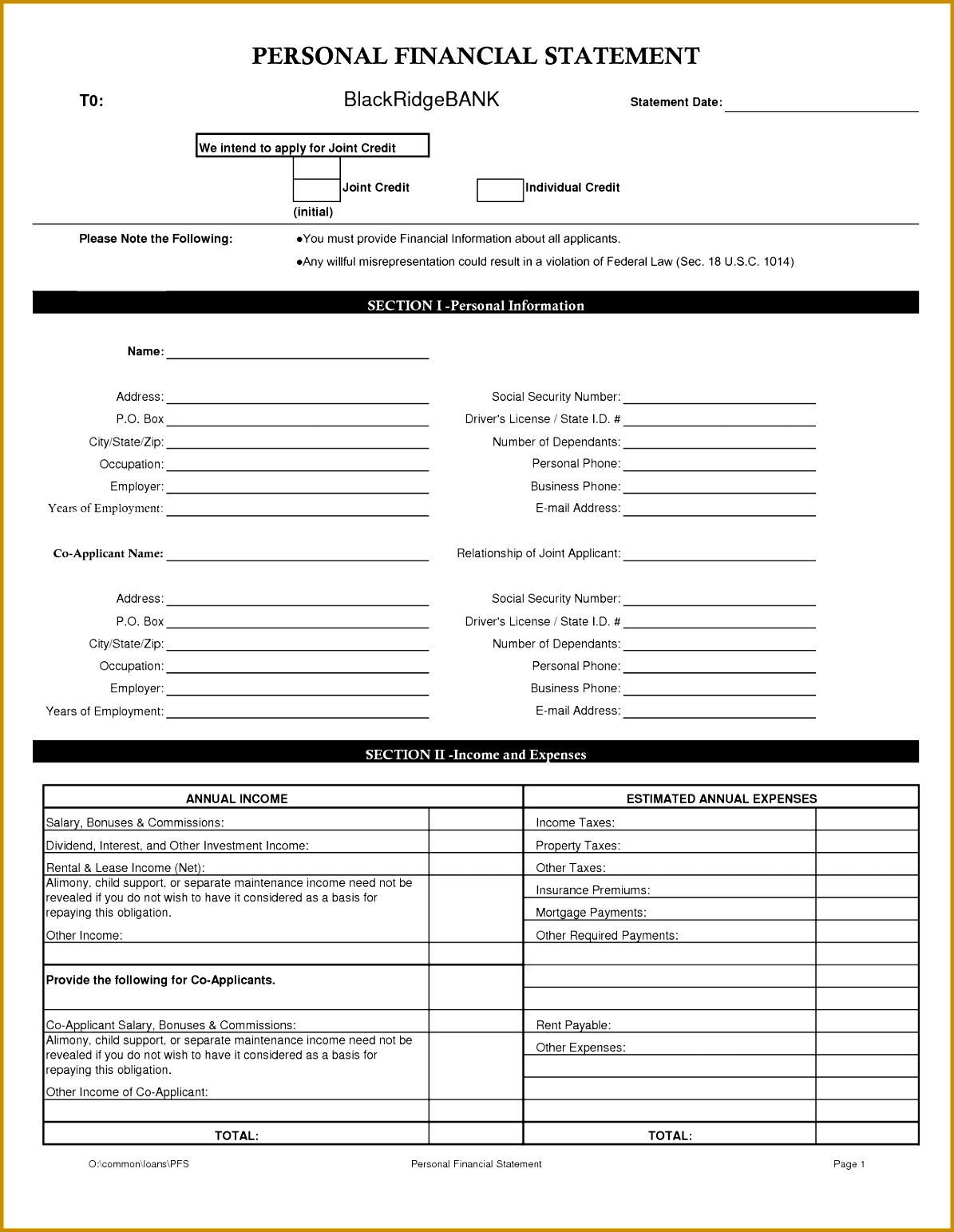 14 personal financial statement template word 11951543