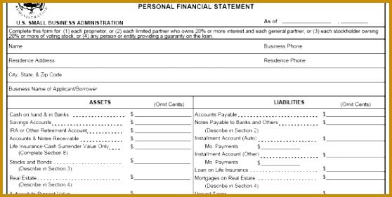 5 Personal Financial Statements Templates - Fabtemplatez
