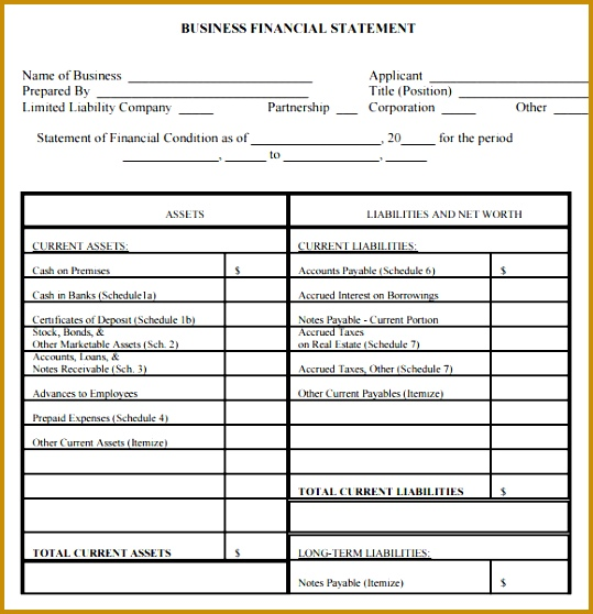 Sample Financial Statement 7 Documents In Pdf Word 539558