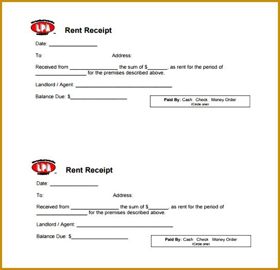 Rental Payment Receipt Template 526544