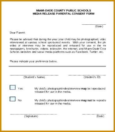 sample photo release School Media Release Form Template 427372