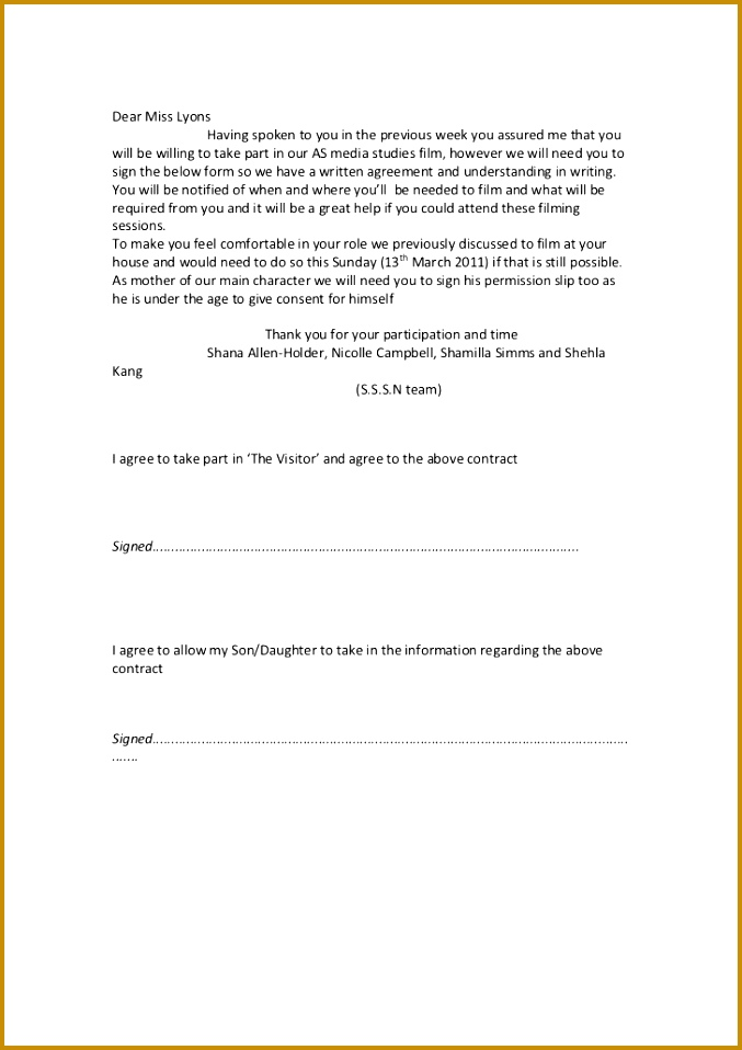 Media Release Form Consent 677958