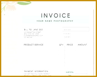 Invoice template graphy invoice Business invoice Receipt template for graphers graphy forms 316251
