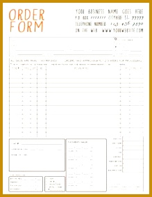 General graphy Sales Order Form Template Available For Immediate Download As A Layered shop PSD File INF104BF 219283