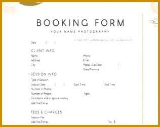 graphy Forms Client Booking Form For grapher shop Template for graphers graphy Contract 251316