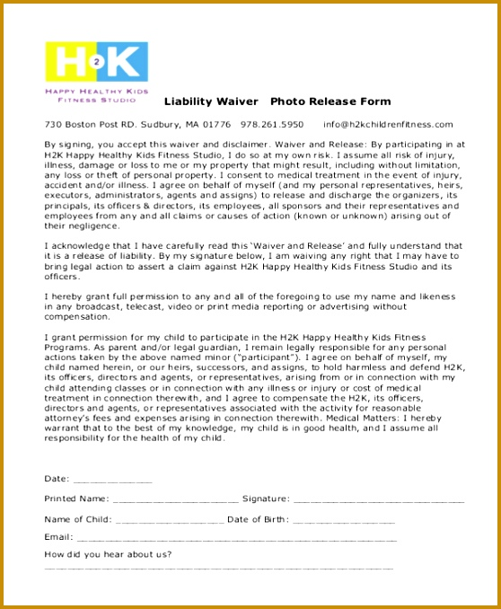 fitness waiver and release form template sample liability waiver form 11 free documents in pdf 678558