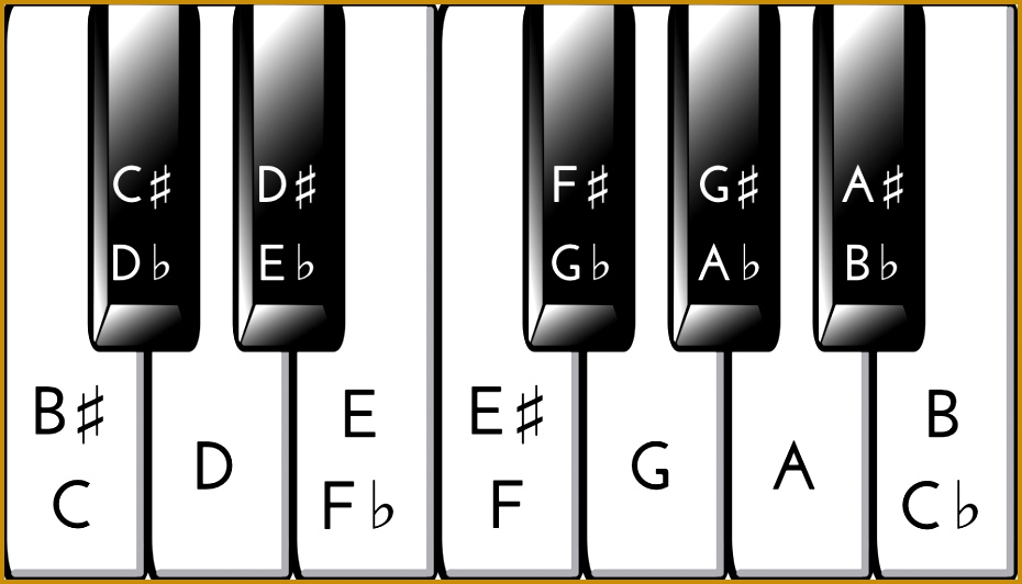 If you only learn one thing about the piano key chart make sure it s this The keys are not the notes see Layout of Piano Keys 532930