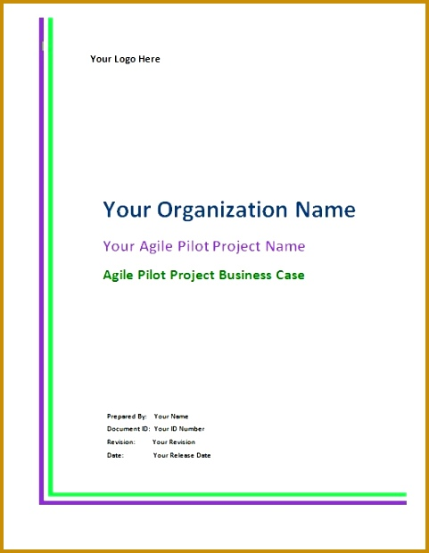 Agile Template Cover See Agile Pilot Project 620481