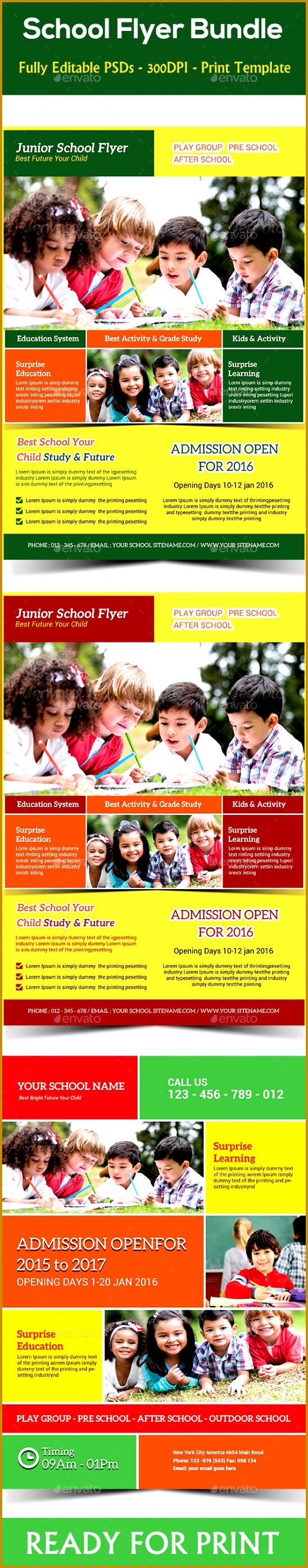 7 Play School Brochure Templates Fabtemplatez