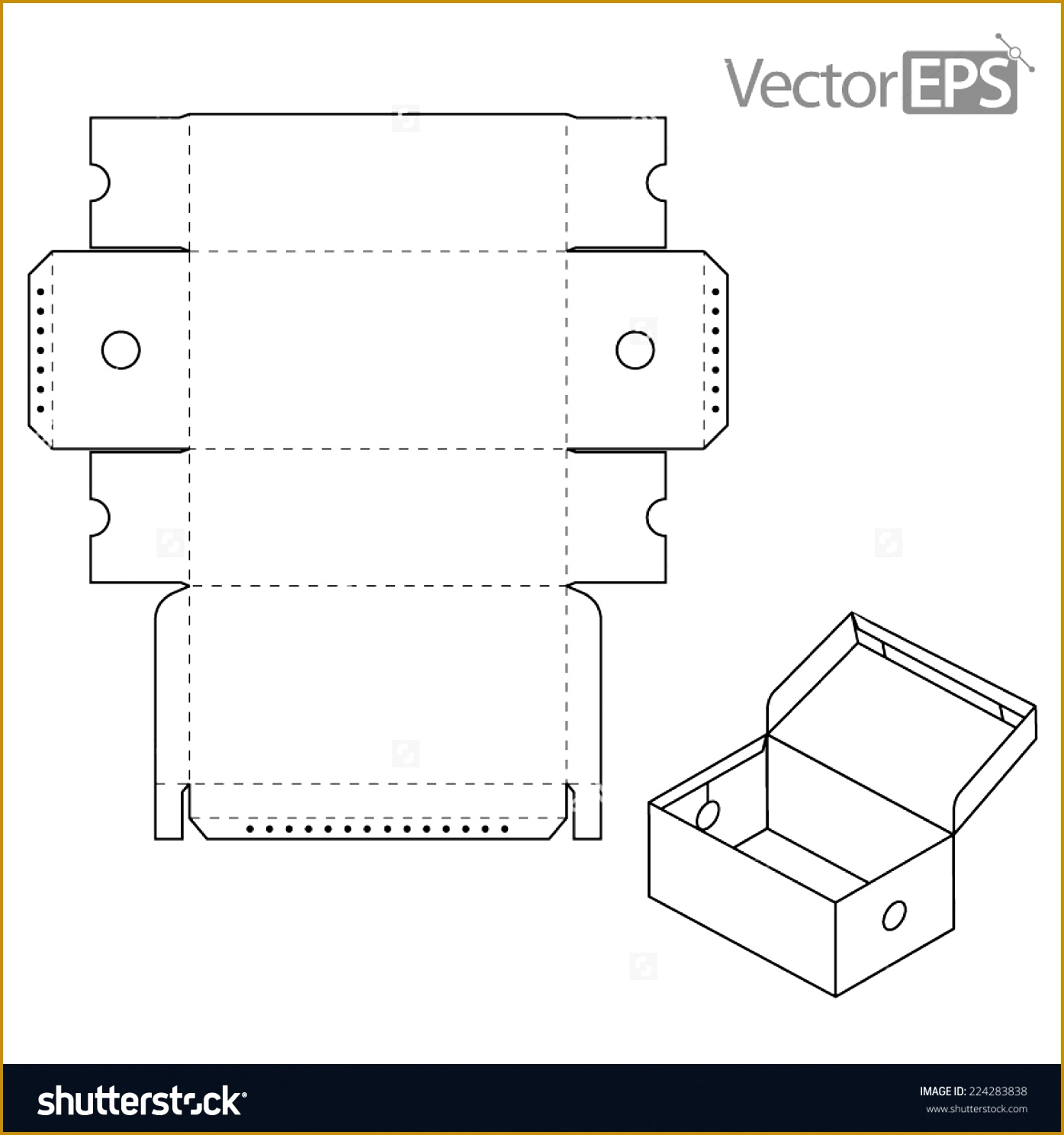 Shoe Box Template 14881395