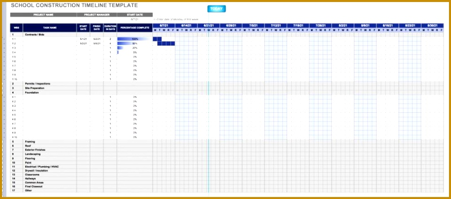 Building a school can be a plex undertaking Construction timelines help ensure all tasks are pleted from classrooms to lunchrooms 395892