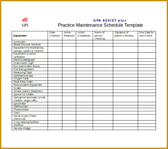 7 Pm Schedule Excel Template