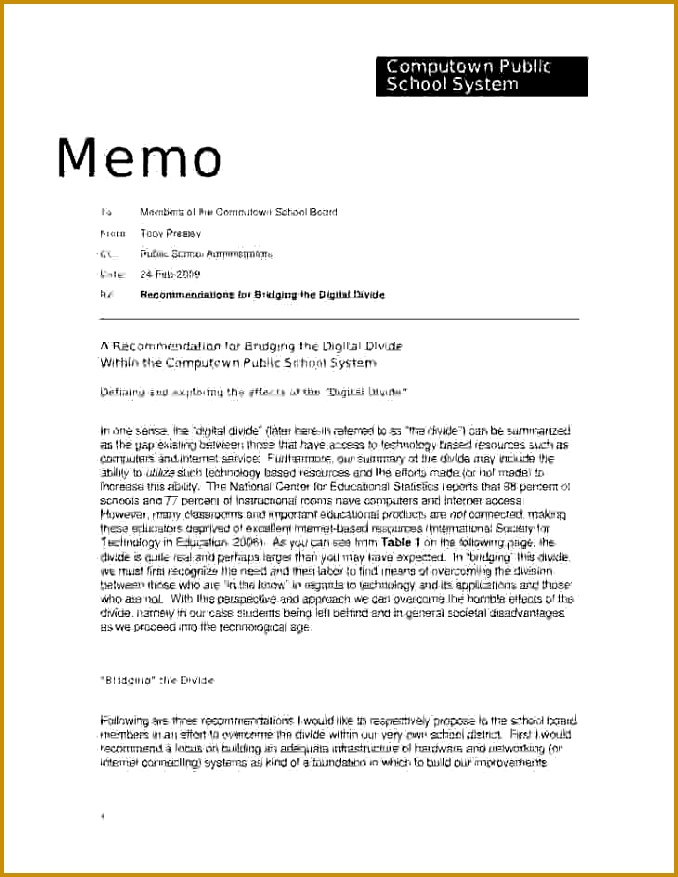 3 Policy Memo Example | FabTemplatez