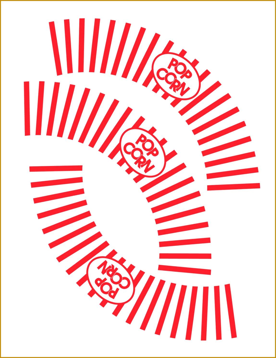 popcorn cupcake liner template print on letter size cardstock THANKS 14881149