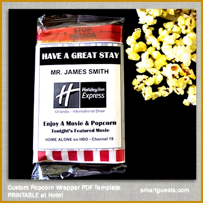 Popcorn Wrapper Template Printable PDF 418418