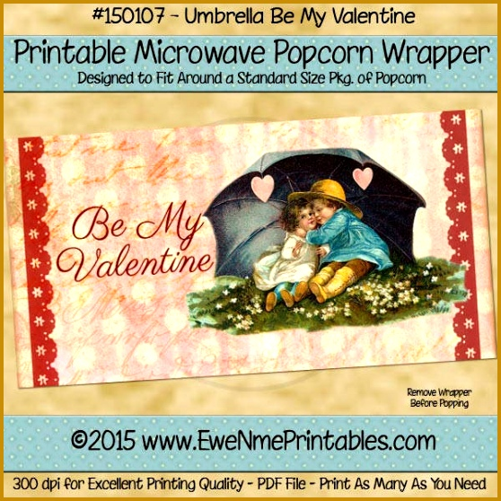 Valentine Popcorn Wrapper Template 558558