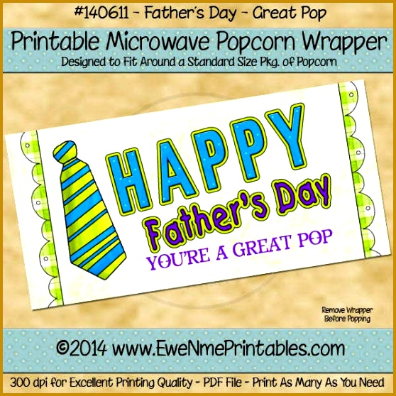 Father s Day Popcorn Wrapper Template 558558