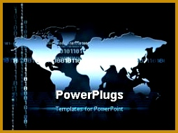 PowerPlugs PowerPoint template with the map of the world in the background 191255