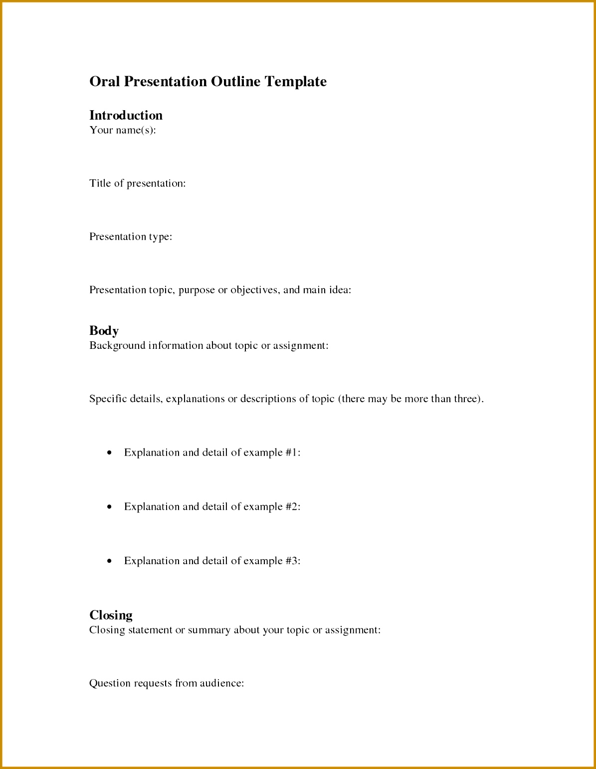 5 Presentation Outline Example | FabTemplatez
