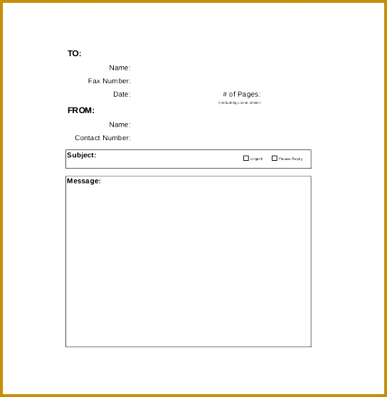 Free Sample Blank Fax Cover Sheet Download 558544