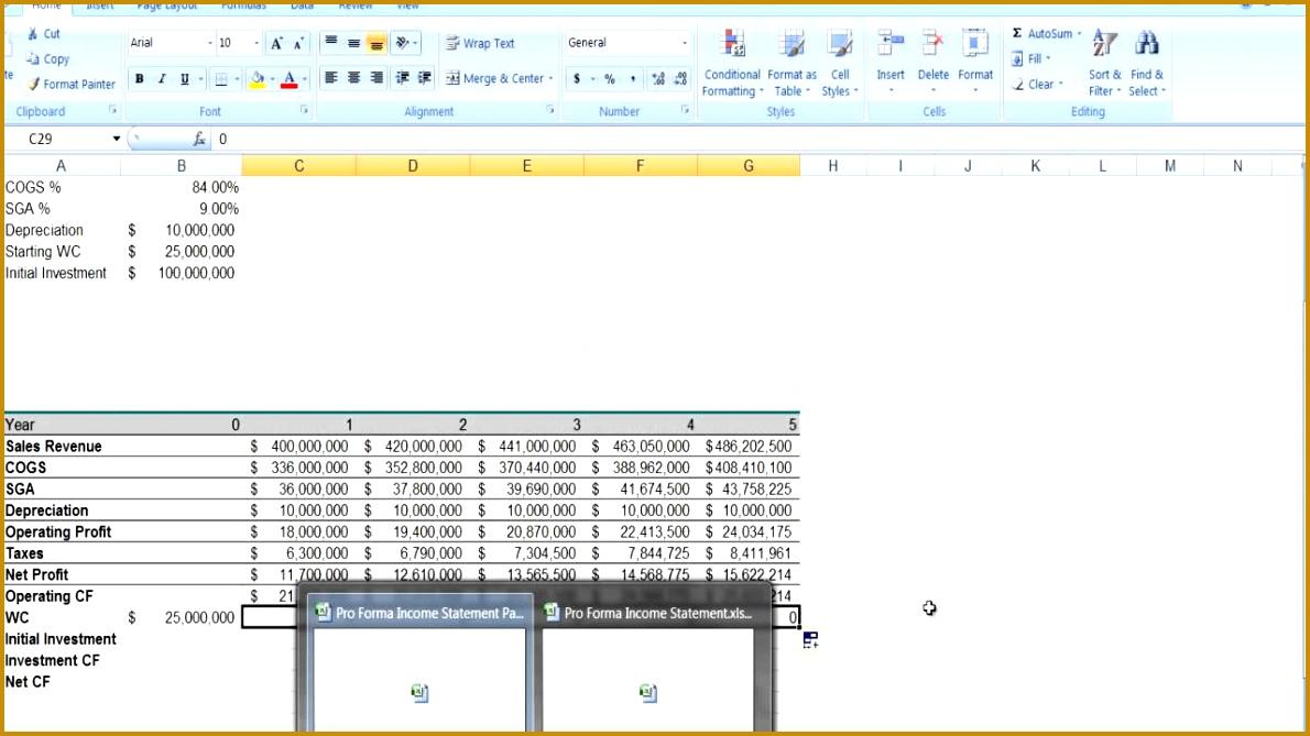 6 Pro forma Income Statement Excel | FabTemplatez