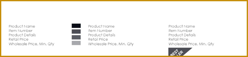 ing Soon Professional Line Sheet Order Form Design 184793
