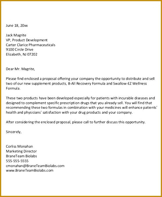 business sales proposal sample letter 678558